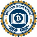 bitcoin homework cryptocurrency education logo