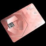 monaco rose gold card logo